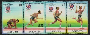 Nevis Olympic Games Seoul 4v Strip 1988 MNH SG#502-505