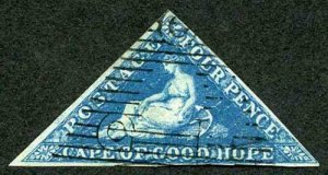 Cape of Good Hope SG2 4d Deep Blue Paper Deeply Blued Cat 275 pounds