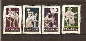 CANADA SET ON PERFORMING ARTS USED STAMPS LOT#205