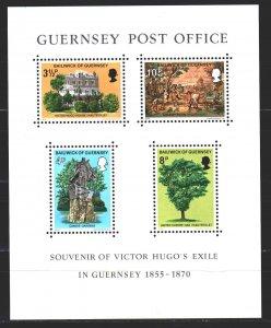 Guernsey. 1975. bl155. Victor Hugo, Guernsey writer. MNH.