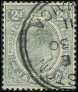 Jamaica SC# 60 SG# 57 Edward VII 2d Used