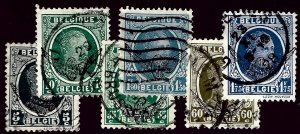 Belgium SC O1-O6 Used Fine hr SCV$9.50....A World of Stamps!