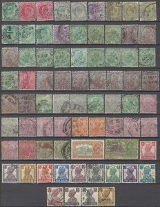 COLLECTION LOT OF # 1703 INDIA 74 STAMPS 1902+ CLEARANCE STUDY