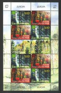 Bosnia Herzegovina Croatian stamp  Europa CEPT forest mini sheet MNH WS102635