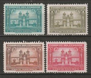 Ecuador 1944 Sc C124-7 air post set MH* disturbed gum/thins