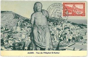 medicine ARCHITECTURE ART SCULPTURES : MAXIMUM CARD - ALGERIA 1955