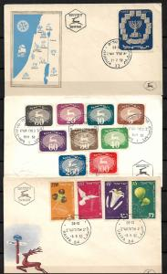 ISRAEL  STAMPS  3. FD COVERS, 1952