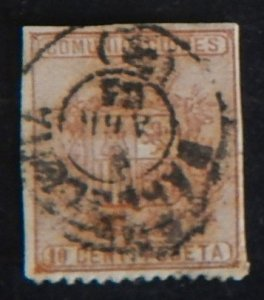 Spain, 1874 Coat of Arms, MC #145B (1833-T)