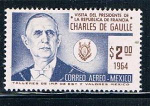 Mexico C281 MNH Charles De Gaulle (M0170)+