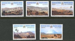 Vatican City MNH mint 1107-11 holyland sites palestine      (Inv 001759.)