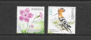 BIRDS - ARMENIA #1010-11   MNH
