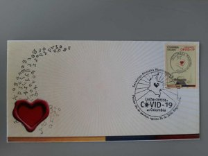 RA) 2020, COLOMBIA, FIGHT AGAINST PANDEMIC, NATIONAL POSTAL SERVICES, FDC