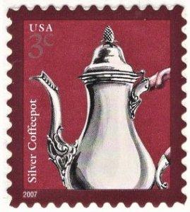 US 3754 MNH VF 3 Cent Silver Coffeepot