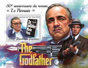 """Stamps TOGO 05 11 2019 .Book """"The Godfather"""" Blok."""