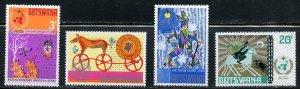 Botswana MNH 96-9 Colorful Set 1979