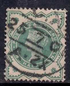 GB 1900 QV 1/2d Bluish green colour change SG 213 ( D201 )