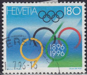 Switzerland 972 USED 1996 Modern Olympic Games 180c