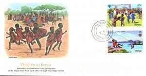 Kenya 137-138 U/A FDC
