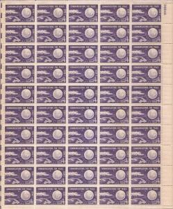 US Stamp 1960 Echo I Communications for Peace 50 Stamp Sheet #1173