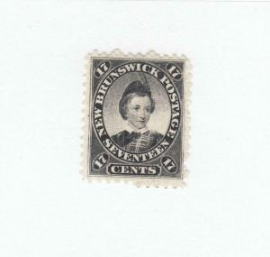 NEW BRUNSWICK # 11 VF-MNG 17cts  1860 PRINCE OF WALES / BLACK CAT VALUE $60