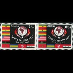 GHANA 1959 - Scott# 46-7 Freedom Day Set of 2 NH
