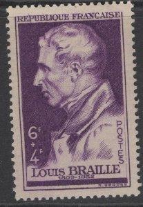 FRANCE SG1023 1948 LOUIS BRAILLE MNH