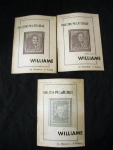 THREE ISSUES OF BULLETIN PHILATELIQUE 1945 - April duplicated