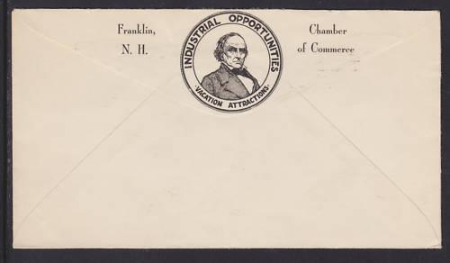US Planty 725-2 FDC. 1932 3c Daniel Webster, Franklin's Unemployment Cachet