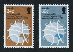 Australia 814-5 MNH Comonwealth Heads of Government