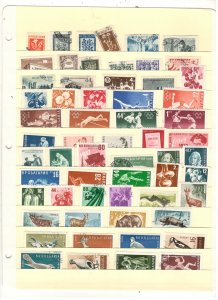BULGARIA COLLECTION ON STOCK SHEET, MINT/USED