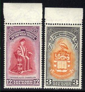 Leeward Islands 1951 KGV1 Set Inauguration BWI College Umm SG 123 - 124 ( F13...