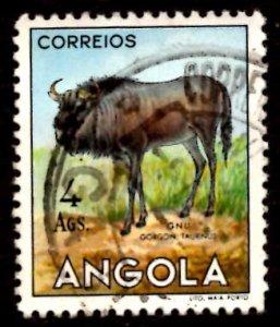 Angola 1953 African Brindled gnu Wild Animals 4a Scott.375 Used (#7)