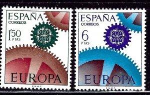 Spain 1465-66 MNH 1967 Europa    (ap2850)