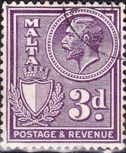 MALTA 1927KGV 3d VioletSG162aFU