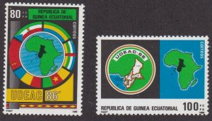 Equatorial Guinea #  107-108, Union of Central African States, NH, 1/2 Cat.