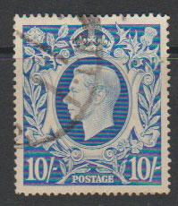 GB George VI  SG 478b spacefiller light reverse crease