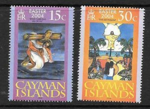 CAYMAN ISLANDS SG1045/6 2004 EASTER MNH