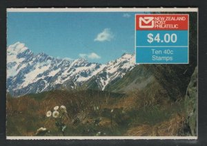 New Zealand 1988 $4 Mt Cook Booklet Sc# 923 NH