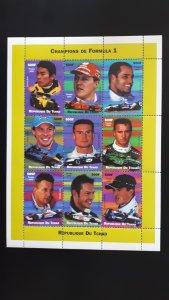 Champions of Formula 1 - Chad 2002. - Full sheet perforated ** MNH