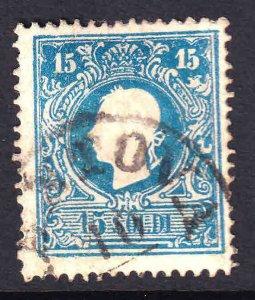 AUSTRIA LOMBARDY 12d CDS F/VF SOUND $150 SCV BRIGHT BLUE