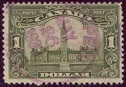 Canada 2016 Scott US$80.00 #159 1929 Parliament Winnipeg Cancel - Fine