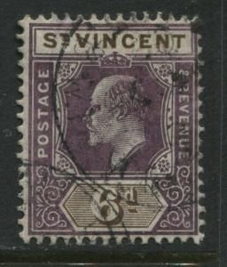St. Vincent KEVII 1904 6d used