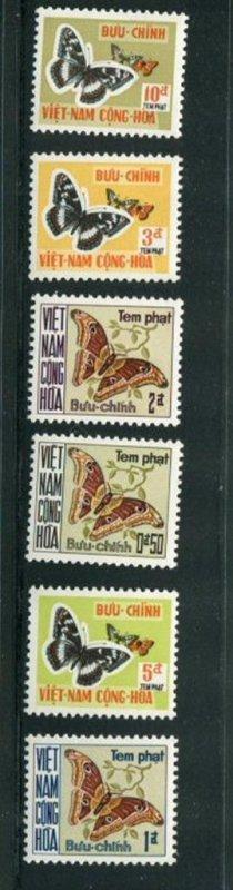 Vietnam #J15-20 MNH