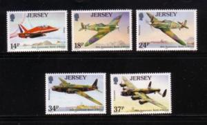 Jersey Sc 544-8 1990 Battle of Britain stamps mint NH