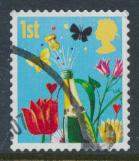 GB SG 2677 SC# 2410 Used Smilers Booklet 2006 - Champagne Flowers - see details