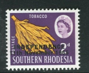 RHODESIA; 1965 Independence Optd. QEII Pictorial issue MINT MNH 2d. value
