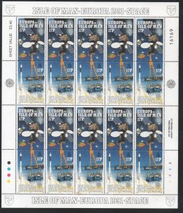 Isle of Man Sc  468-71 1991 Europa, Space, stamp set in sheets mint NH
