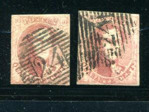 Belgium #8 and 8a used F-VF