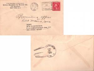 United States Ships 2c Washington Fourth Bureau 1930 Hud. Term. Annex N.Y. to...