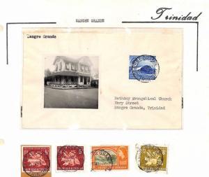 MS3954 1960-66 TRINIDAD *Sangre Grande* Postmarks & Cover ALBUM PAGE